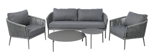 Juego de muebles de jardín de 5 piezas, 88 x 82 x 75 cm, muebles de jardín, muebles de exterior impermeables