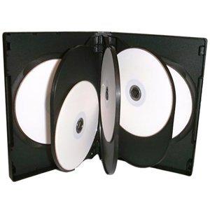 Dragon Trading®, 25 custodie per CD DVD / BLU RAY da 27 mm, per 8 dischi, colore: nero