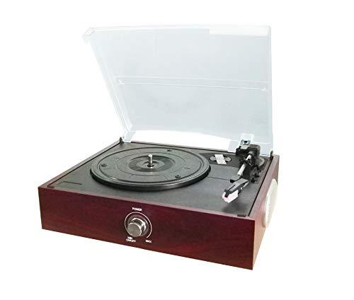 Lefang Retro Vinyl Record Player Vintage LP Record Player Retro Vinyl Record Player Bluetooth Playback 33, 45, 78 RPM Play USB-transcriptie