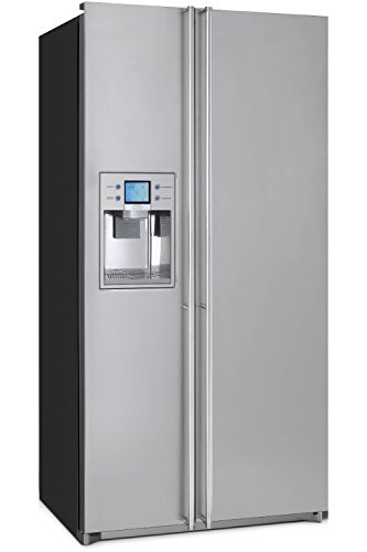 Smeg FA55XBIL3 freestanding 538L A+ Silver side-by-side refrigerator - Side-By-Side Fridge-Freezers (Freestanding, Silver, American door, LED, LCD, Stainless steel)