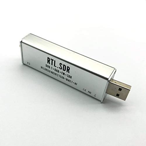 ACEHE Rtl-Sdr V, Rtl-Sdr Blog V3 Rtl2832U 1Ppm Tcxo Hf Biast SMA Software Aluminium geschirmtes Gehäuse Defined Radio R820T2 Tuner