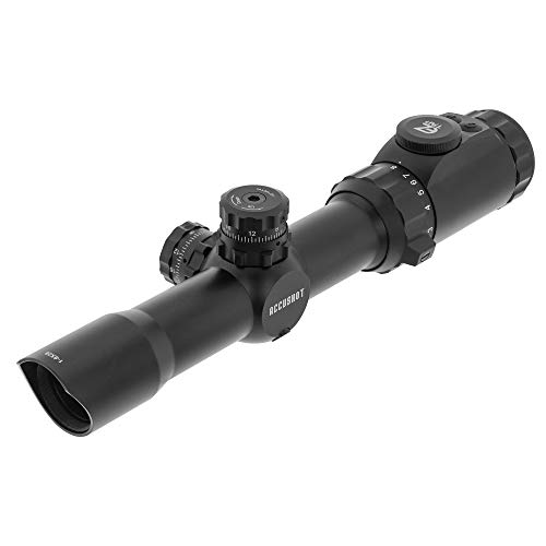 Leapers Inc, UTG 1-8x28mm 30mm MRC Scope, IE, BG4 Reticle, with ACCU-SYNC, Black (SCP3-18IEBG4)
