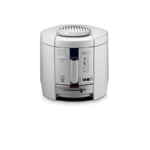 De'Longhi friggitrice F26237.W1, Capacità patatine: 1 kg, termostato regolabile da 150 a 190°C, 1800 watt