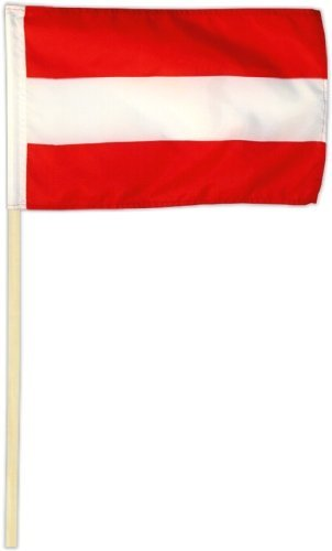 Fahne Flagge Österreich 30 x 45 cm mit Stab by Flags4You