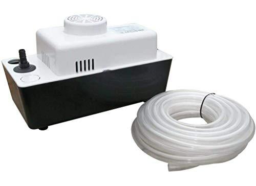 Automatische Kondensatpumpe Kondensathebeanlage z.B. für Kondenswasser von Klimaanlagen. Förderhöhe max.: 4,5 m Förderleistung max.: 330 l/h. Maße LxBxH: 280x130x175 mm.