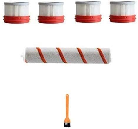 NICERE Partes de aspirador reemplazos 6 unids para Mijia Dreame V9 V10 mano aspirador Accesorios cepillo rodillo cepillo elemento filtro