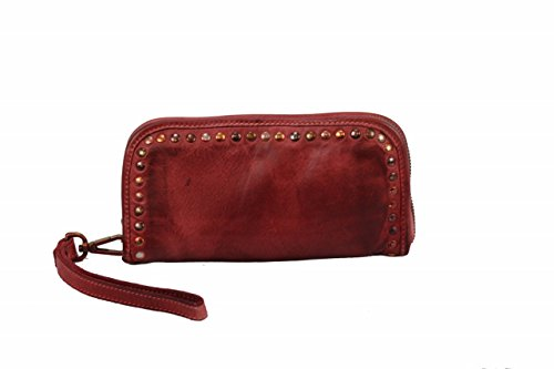 BZNA Berlin Romy red Wallet sheep Leather Leder Portemonnaie Geldbörse Clutch