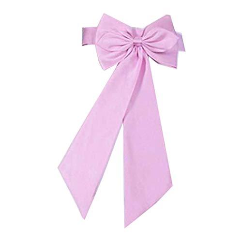 SACASUSA (TM Braut Hochzeit Blumen Mädchen Schärpe Gürtel Satin Schleife in 10 Farben - Pink - Einheitsgröße
