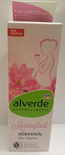 alverde NATURKOSMETIK Mamaglück Körperöl Bio-Malve, 100 ml