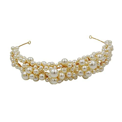 joyMerit Diadema de Perlas de Simulación para Mujer Diadema Nupcial Boda Vacaciones Sombreros