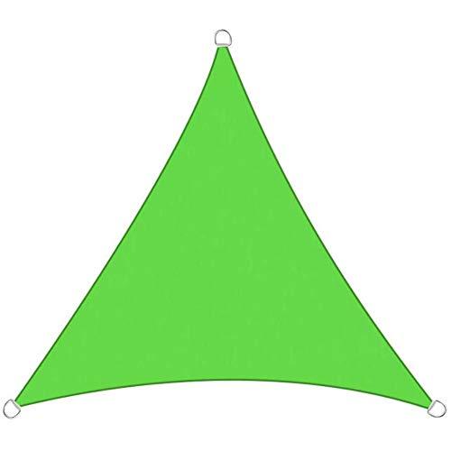 Myan - Toldo para vela con bloqueo UV, impermeable, triángulo con cuerda libre, protector de pantalla, toldo para cenador, 5 colores y 4 tamaños, Verde, 3x3x3m