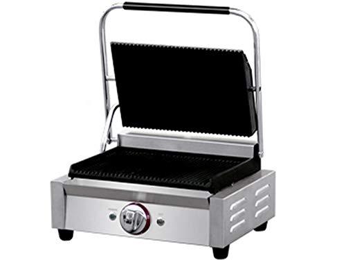 GGG KG5.2L Barbecue de contact professionnel en acier inoxydable, 2800 W, température de 50 à 300 °C, plaques en fonte