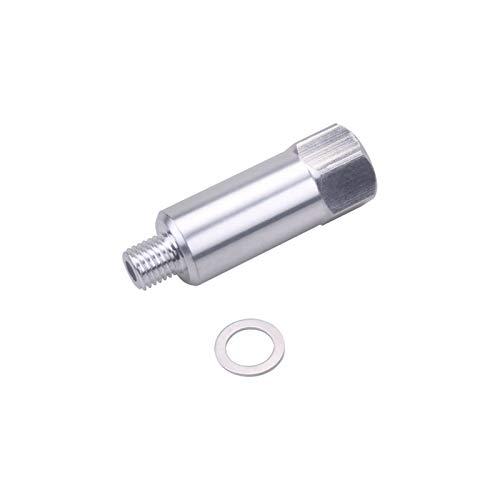 YYAN Adaptador de Longitud extendida L-S refrigerante/de Agua Sensor de Temperatura Envío Adaptador de Unidad Todo Ajuste para Motores de Serie GM LS #N (Color Name : Silver)