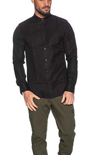 Calvin Klein Jeans Herren Stand Collar Slim Shirt Hemd, Ck Schwarz, XX-Large