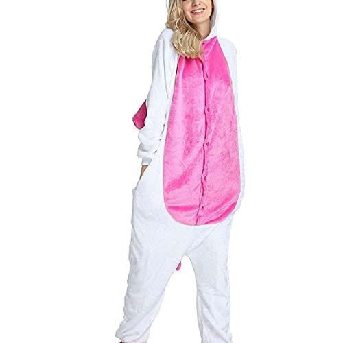WEIYIing Adulto de una Pieza Pijamas de Animales Set Cálido Suave Invierno Pijamas Flannel Dibujos Animados Pijamas Manga Larga Unisex Cosplay-8t (Altura 115-125cm