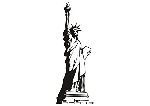 Wandtattooladen Wandtattoo - Freiheitsstatue 2 Größe:29x80cm Farbe: schwarz