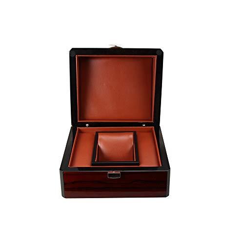 RMXMY High-End-Glänzend lackiert Holz-Uhr-Kasten-Uhr-Kasten Einfache kreative Schmuckkollektion Goldbarren Gold Coin Box