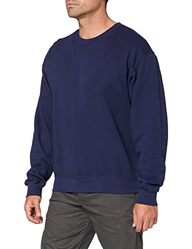 Fruit of the Loom Men's Set-In Classic Sweater, Navy, X-Larg