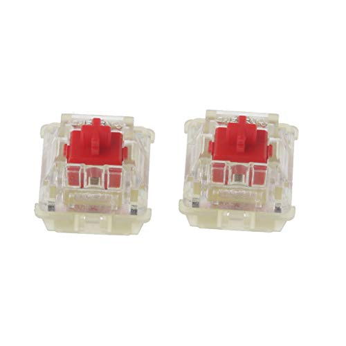 Huiingwen 2 unidades Cherry MX Red Switches, Original SMD RGB 3 pines pies mecánico Keyboard Clear Switch