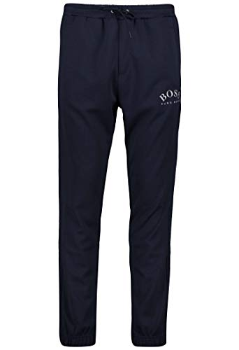BOSS Slim-Fit Jogginghose HADIKO Win aus Baumwoll-Mix mit Logo und Beinbündchen dunkelblau 416 (XXL)