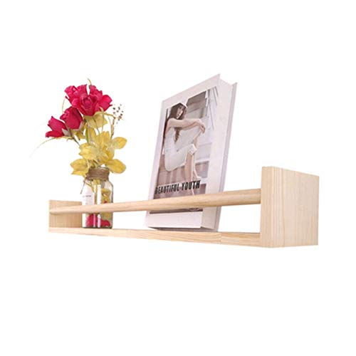 XLYYHZ Estante de entrada de madera maciza para esculturas de pared, soporte de pared para puerta detrás de sala de estar, dormitorio, exhibición 1HUIYANG-01020 (tamaño : 60 cm)