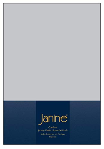 Janine Spannbettlaken Jersey Elastic 90/100x190/220 silber