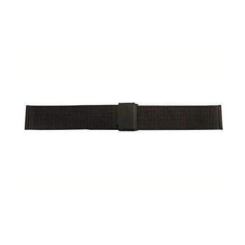 腕時計のベルト交換に! BAMBI バンビ 時計バンド紳士用 バンビメタル BSN1235-B 〈簡易梱包