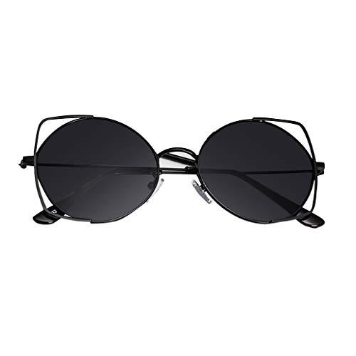 ReooLy Occhiali da Sole per Donna, Occhiali da Sole con Montatura in Metallo Specchiati Cat Eye