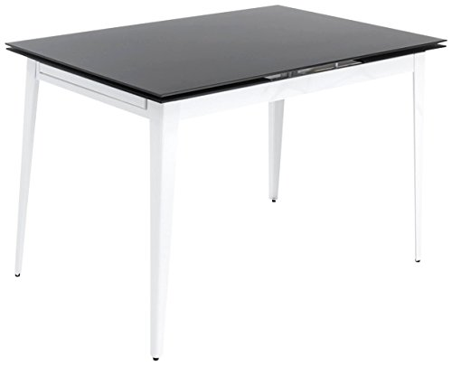 Tomasucci Slate Tisch ausziehbar, Metall, Weiß, 80x 120x 76cm