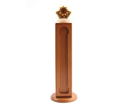THUN ® - Porta Capsule per Nespresso ® con Girasole - Linea Country - Legno - h 35 cm