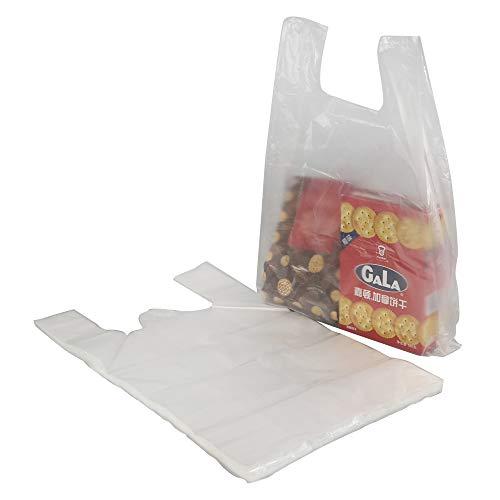 Cadine 320 Beutel Hemdchentragetaschen, Kunststoff-Weste Tragetaschen, transparente Weste Stil Kunststoff-Tragetaschen