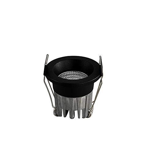 Wlnnes Gabinete negro 3W LED Downlight empotrado Armario CRI85 alto color Led luces empotradas Entrada CE, certificación de RoHS Diámetro 45mm (Color : Luz blanca)