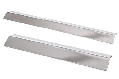 Allgrill Das ausziehbare Universal-Flammschutzblech aus Edelstahl, stufenlos verstellbar von 35 bis 59 cm, Breite 13.5 cm, Höhe 4 cm