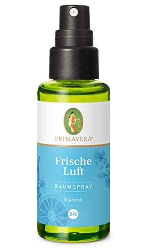 PRIMAVERA Raumspray Frische Luft bio 50 ml - Pfefferminze, Zitrone und Myrte - Aromadiffuser, Aromatherapie - klärend - vegan