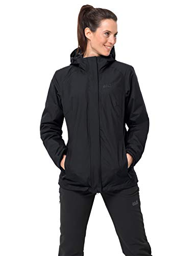 Jack Wolfskin Damen Iceland 3in1 Women 3in1-jacke, black, XL