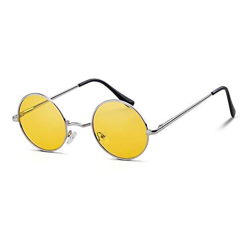GIFIORE Retro John Lennon Runde Sonnenbrille, Kreis Punk Polarisierte Sonnenbrille, Hippie Brille für Damen/Herren