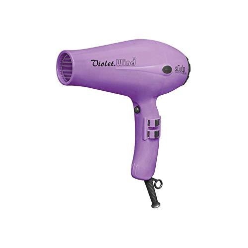 Secador de Pelo Profesional Sculp 3300 Wind Violet, Motor AC de 1800W con 2 Boquillas Concentradoras de Aire, 2 Velocidades y 3 Temperaturas, Botón de Aire Frío, Violeta