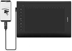 HUION H610PRO V2 Tablette Graphique à Stylet 8192 Niveaux avec Inclinaison et 8 +16 Raccourcis, idéal pour l'enseignement...