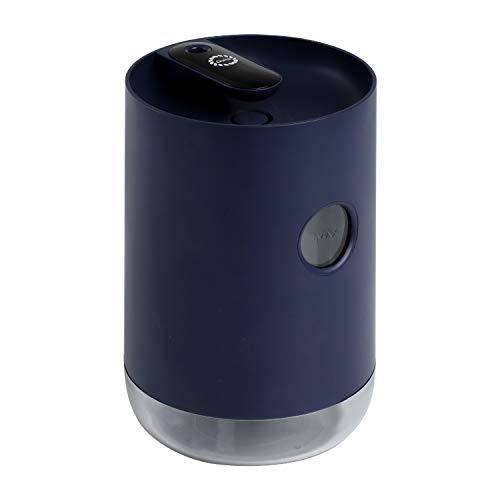 Qurra 卓上加湿器 usb 充電式 コードレス 超音波 上から注水 800ml 長時間使用 8時間 LED 静音 寝室 おしゃれ Mois Compact - ネイビー