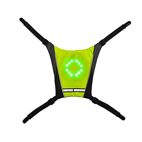 Cycling Reflective Vest Backpack with LED Turn Signal Light, Remote Control...