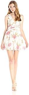 MINKPINK Women's Day Dreamer Floral Print V Neck Dress