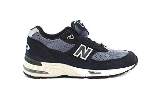 New Balance M991 D Leather/Textile - nvb navy, Größe:10(44)