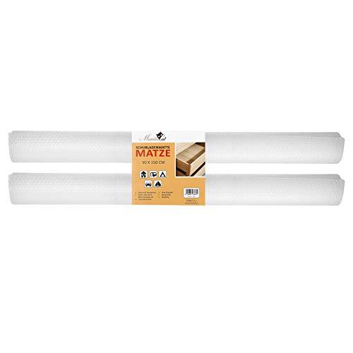 MamboCat Schubladenmatte Matze 2er Set 150x50cm I Schubladenschutz transparente Antirutschmatte I DIY zuschneidbare Einlegefolie für Schränke I Einlage Schrank Pad Plastik Unterlage für Küche Bad