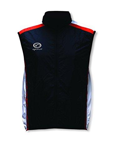 OPTIMUM Cycling - Chaleco de Ciclismo para Hombre, tamaño M, Color Negro/Blanco/Rojo
