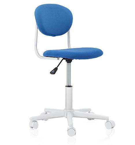 NOVIGO Kids Desk Study Chair with Ergonomic Padded Back and Adjustable Height for Children Students Girls Boys Blue