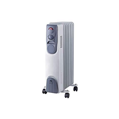 Radiateur bain d'huile - NIKLAS - électrique 230V - 1500W - 3 puissances de chauffe - Thermostat - Corps metal verni