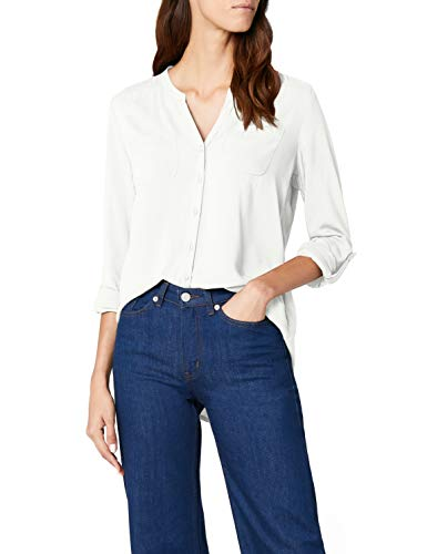 ONLY Damen onlFIRST LS Pocket Shirt NOOS WVN Bluse, Weiß (Cloud Dancer), 42