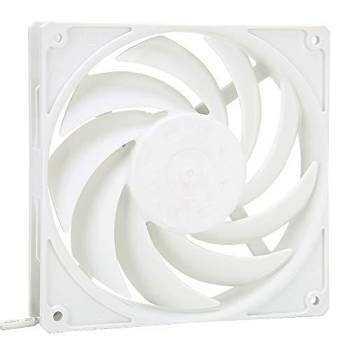 Ventilador de Enfriamiento de la Caja de la PC, Enfriamiento Fresco de la CPU de la Computadora F140 Ventilador del Refrigerador de la Computadora de Escritorio de Poco Ruido del 14cm(Blanco)
