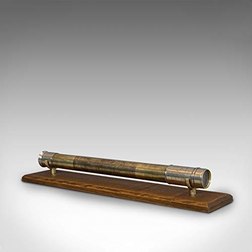 Telescopio Marino Antiguo, inglés, un Solo Dibujo, Barco, Refractor, Victoriano