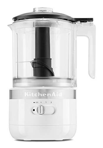 KitchenAid KFCB519WH Cordless Chopper, 5 cup, White